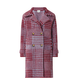 Knitted Check Coat