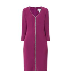 Crystal Studded Midi Dress