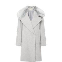 Faux Fur Collar Wool Coat