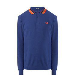 Long Sleeve Woven Collar Polo Shirt
