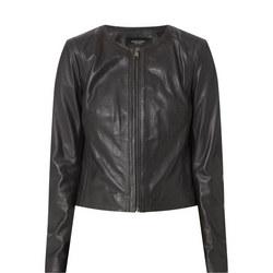 Stripe Leather Jacket