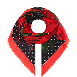 Rose Polka Dot Scarf