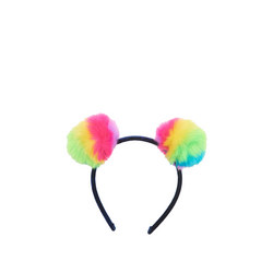 Girls Prismatic Pom Poms Hairband
