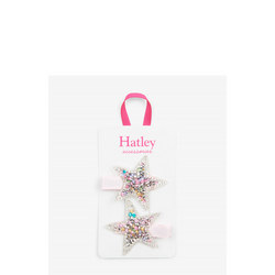 Girls Twinkle Star Hair Clips Set Of Two