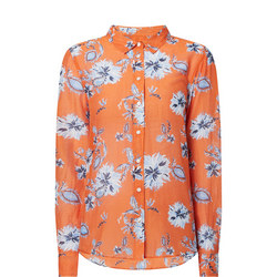 Marine Paisley Silk Shirt
