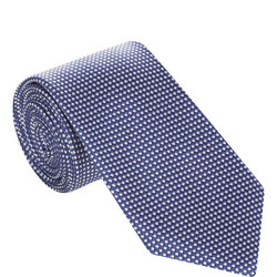 Diamond Grid Silk Tie
