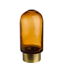 Bullet Vase Amber