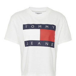 Tommy Flag Cropped T-Shirt