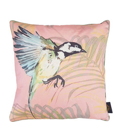 Coal Tit Cushion Pink 50cm X 50cm