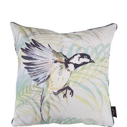 Coal Tit Cushion Sea Green 50cm x 50cm