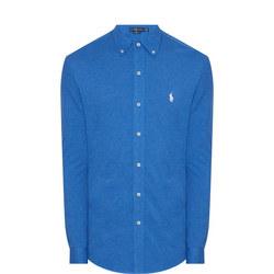 Feather Mesh Polo Shirt