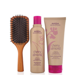 Cherry Almond Hair & Mini Paddle Brush