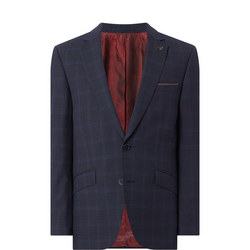 Lanzo Slim Check Suit Jacket