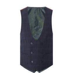 Lanzo Slim Check Waistcoat