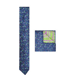 Floral Print Silk Tie & Pocket Square