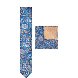 Large Floral Print Tie & Pocket Square