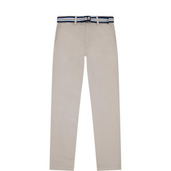Boys Belted Chino Trousers