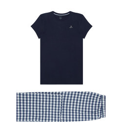 Short Sleeve Flannel Pyjama Set