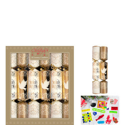 Luxury Christmas Crackers Gold 12 Pack