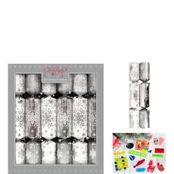 Luxury Christmas Crackers Snowflake 12 Pack