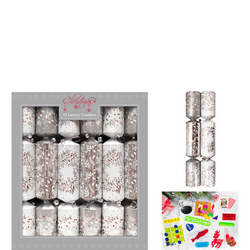 Luxury Christmas Crackers Silver 12 Pack