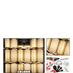 Harvey & Mason Deluxe Christmas Crackers Gold Scene Six Pack