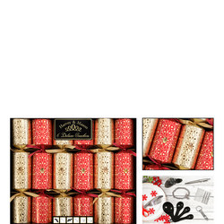Harvey & Mason Deluxe Christmas Crackers Gold Red Six Pack