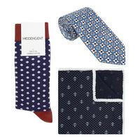 Three-Piece Sirius Pocket Square, Socks And Tie Set
