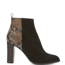 Tanya Snake Ankle Boot