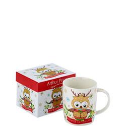 Arthur Price Christmas Owl Mug Collection Woodleigh