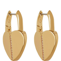 Pave Lock Hoop Earrings