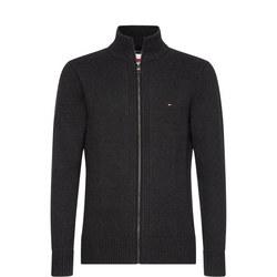 Chunky Cotton Zip Through Sweater