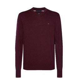 Pima Cotton Cashmere V Neck Sweater