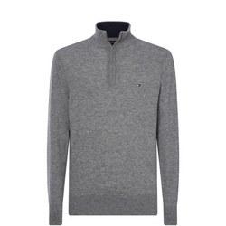 Lambswool Zip Mock Sweater