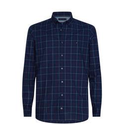 Slim Fit Classic Windowpane Shirt