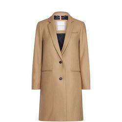 Belle Wool Blend Classic Coat
