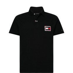 Slim Fit Embossed Flag Polo Shirt