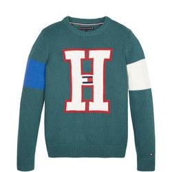H Badge Sweater
