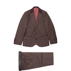 Boys Single-Breasted Two-Piece Suit