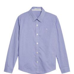 Boys Dobby Micro Check Shirt