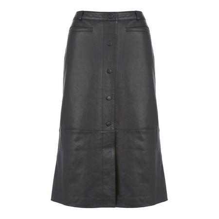size 40 later info for Mint Velvet Leather Midi Skirt