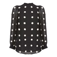 Embroidered Spot Top