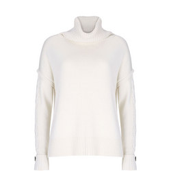 Cabled Roll Neck Jumper