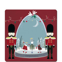Nutcracker Snowglobe Set Of Six Placemats