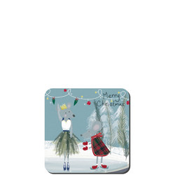 Nutcracker Snowglobe Set Of Six Coasters