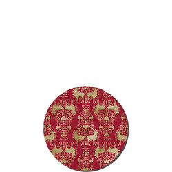 Red And Gold Christmas Set Of Six Coasters