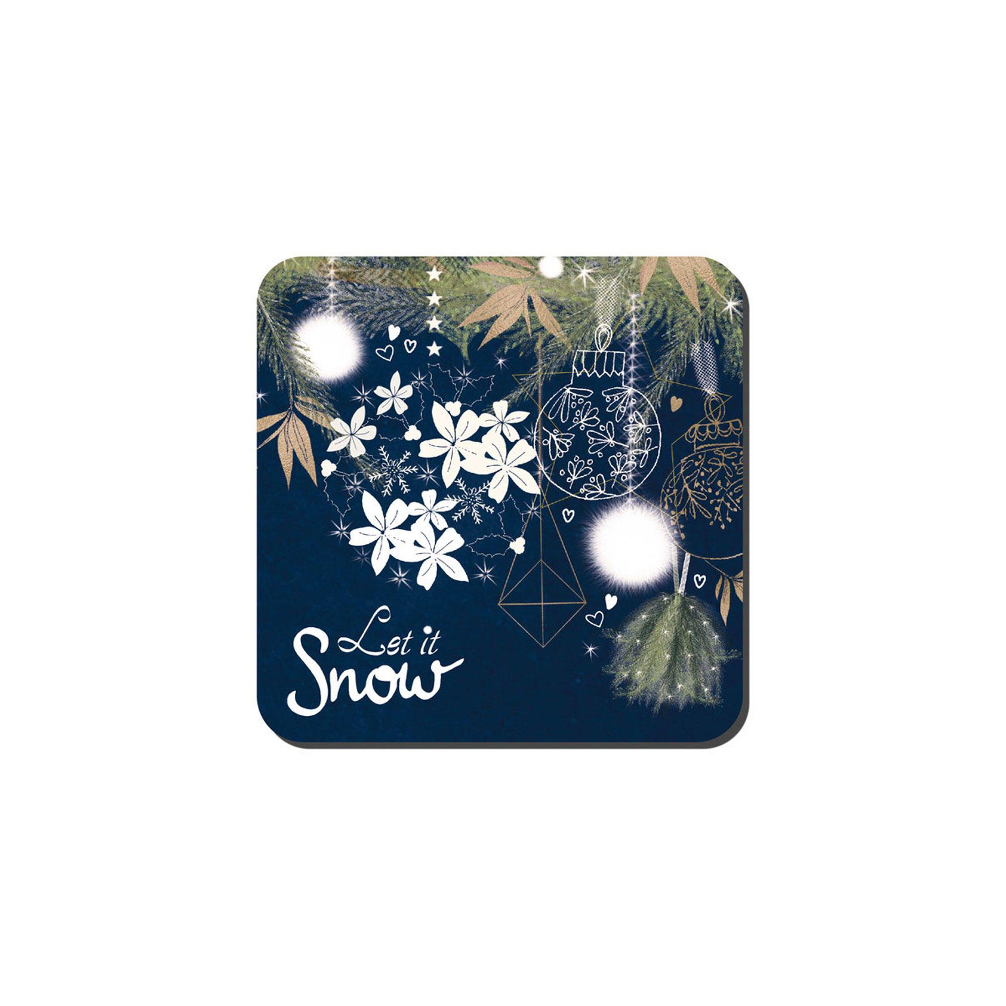 143636479: Let It Snow Set Of Six Coasters