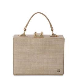 Georgia Straw Weave Top Handle Bag