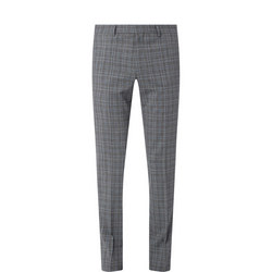 Getlin Slim Check Suit Trousers