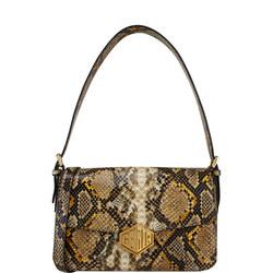 Snake Flap Shoulder Bag